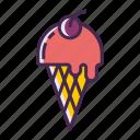 ice cream, ice cream cone icon