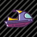 jet, jet ski, motorboat, ski icon