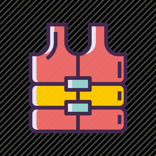jacket, life jacket, life vest icon