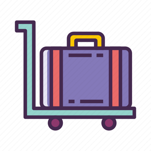 Baggage, luggage, suitcase, trolley icon - Download on Iconfinder