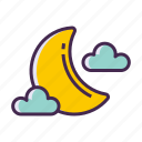 moon, moonlight, new moon icon