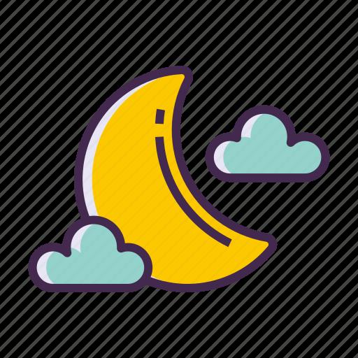 moon, moonlight, new moon icon