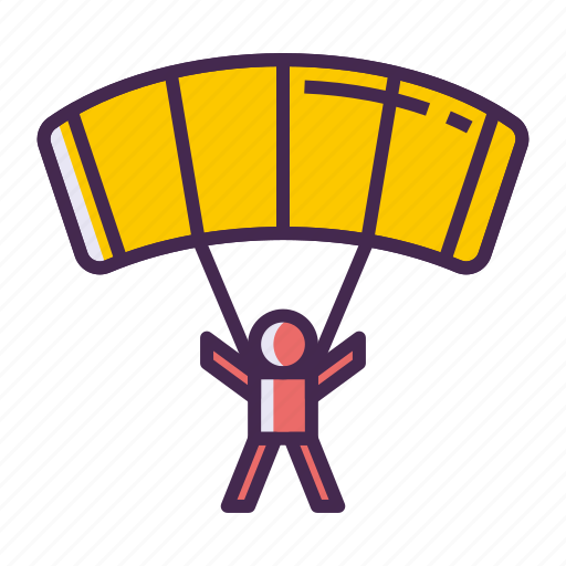 chute, parachute, parachuter, parachuting icon