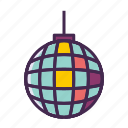 disco ball, party icon