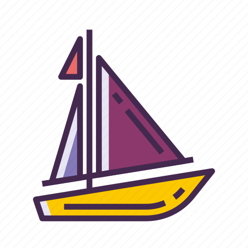 boat, sail, sailing, yacht icon