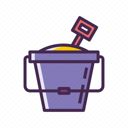 Bucket, pail, sand icon - Download on Iconfinder
