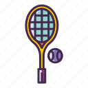 racquet, tennis, tennis ball icon