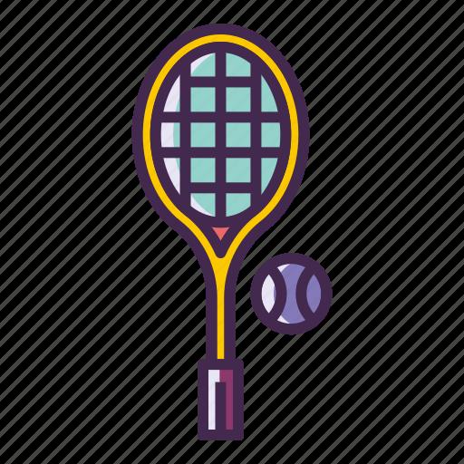racquet, tennis, tennis ball icon