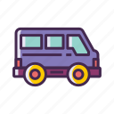 minivan, tour bas, van icon