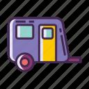 campervan, caravan, rv, trailer, trailer park icon
