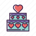 cake, wedding cake icon