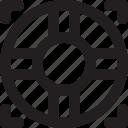 lifebuoy, outline, suitcase, tourism, travel icon