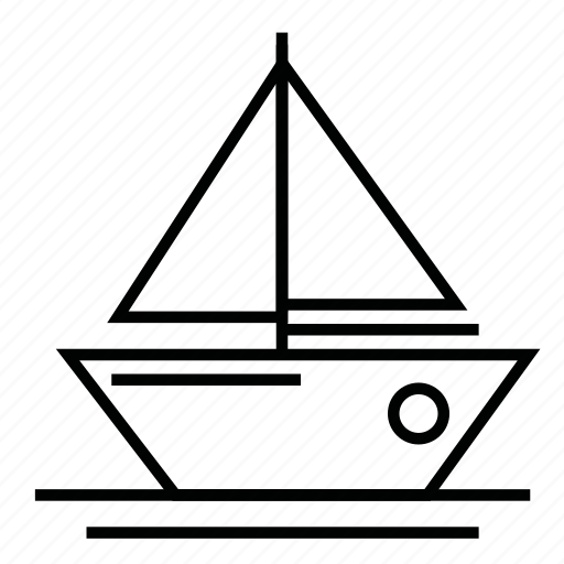 boat, cruise, ocean, sail, sea, traveling icon