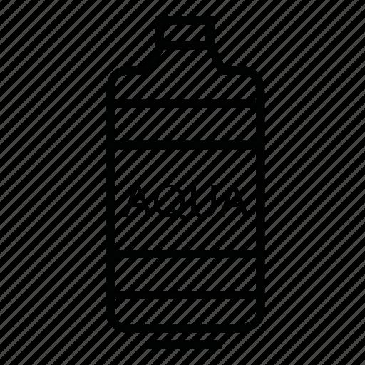 aqua, bottle, drink, water icon