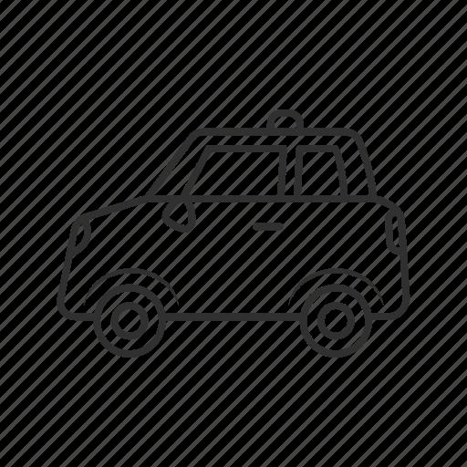 automobile, cab, car, police car, taxi, vehicle, yellow cab icon