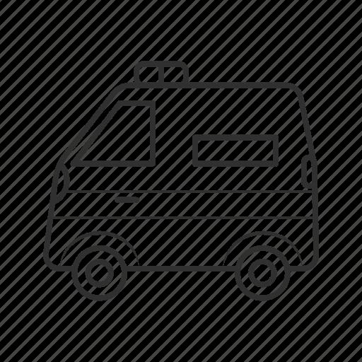 accident, ambulance, cab, car, emergency, siren, vehicle icon