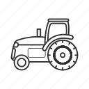 agriculture, emoji, farm, farming, field, tractor, vehicle icon