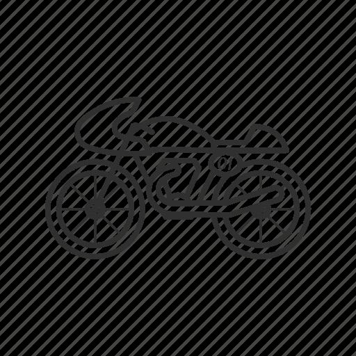 bike, cycle, drive, motorcycle, ride, vintage bike, vintage motorcycle icon