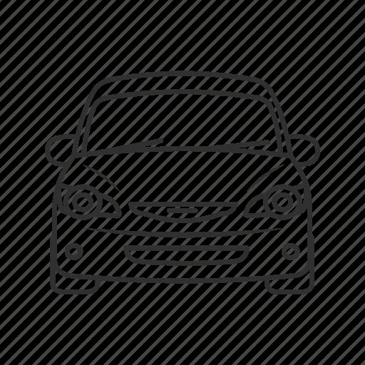 automobile, car, car front view, emoji, luxury car, transportation, vehicle icon