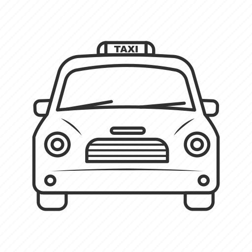 cab, emoji, passenger, taxi, taxi driver, taxi front view, yellow cab icon