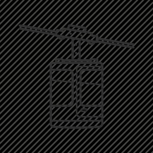 aerial, aerial tramway, cable car, emoji, sky tram, tram, tramway icon