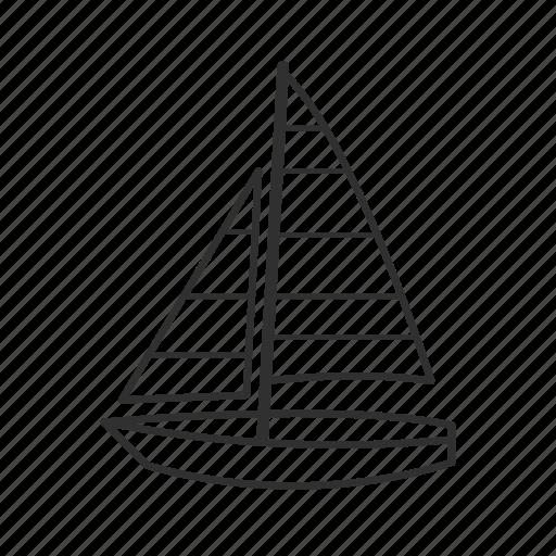 boat, sail, sail boat, sailboat, sailing, sailor, sea icon