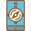 compass, journey, mobile, tourist, transport, travel icon