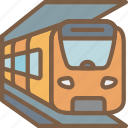 journey, tourist, train, transport, travel icon