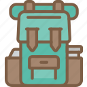 backpack, journey, tourist, transport, travel icon