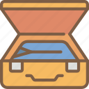 journey, packing, suitcase, tourist, transport, travel icon