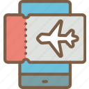 device, journey, ticket, tourist, transport, travel icon