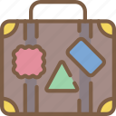journey, suitcase, tourist, transport, travel icon