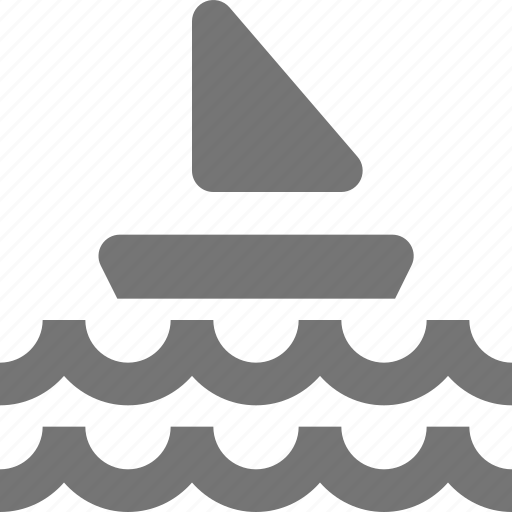 boat, ocean, sail, sailing, sea, waves icon