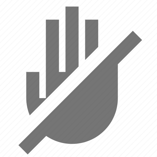 hand, no entry, warning icon