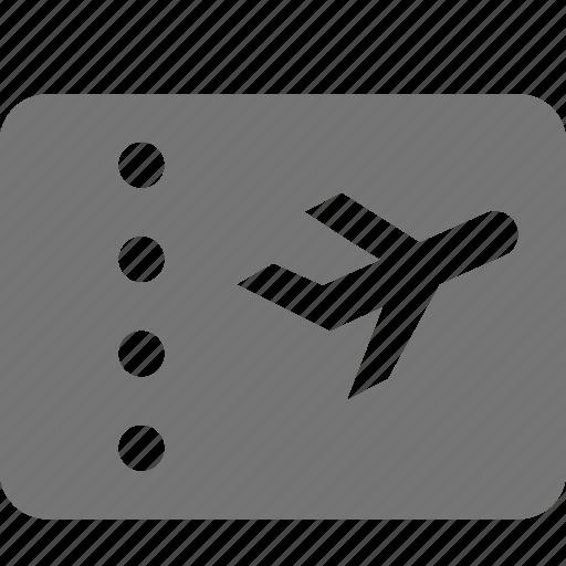 airplane, plane, ticket, transportation icon