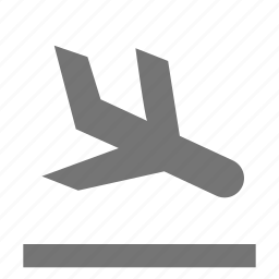 airplane, arrival, landing, plane, transportation icon
