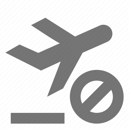 airplane, block, cancel, departure, plane, stop icon