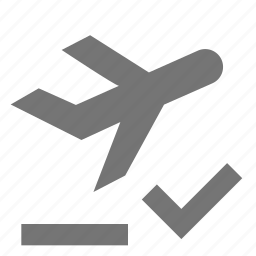 airplane, check, departure, plane, select icon