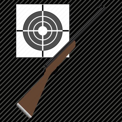 aim, animal, arrow, bullet, bullseye, center, fire, game, goal, gun, hunt, hunting, nature, point, rifle, security, shoot, sport, target, targeting, weapon icon