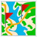 arrow, compass, direction, earth, flags, gps, location, map, marker, markers, navigation, plan, pointer, road, travel icon