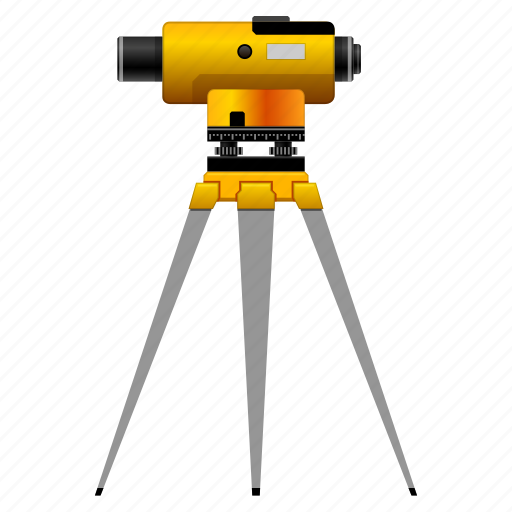 appliance, control, device, equipment, explore, instrument, land surveyor, locator, meter, research, surveying, surveyor, technology, theodolite, tool, tools, transit, tripod, trivet icon