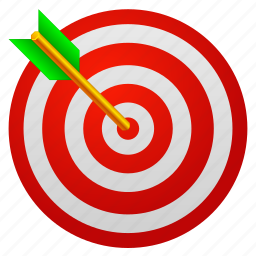 aid, aim, arrow, bullseye, center, game, goal, marketing, point, security, seo, success, target, targeting, win icon