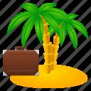 beach, freedom, holiday, island, management, nature, palm, sand, sea, travel, tree, vacation, voyage icon