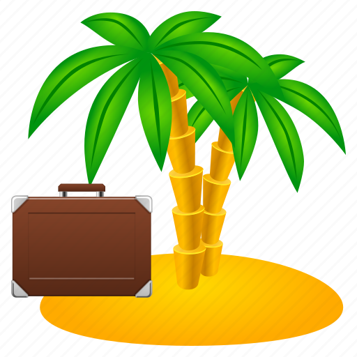 beach, freedom, holiday, island, management, nature, palm, sand, sea, travel, tree, vacation, voyage icon