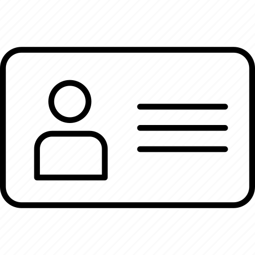 identification, identify, person, personal, tag, user icon