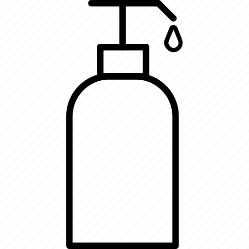 bath, bottle, cosmetic, hair, package, shampoo, shower icon