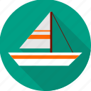 boat, sailboat, sailing, ship, shipping, yacht icon