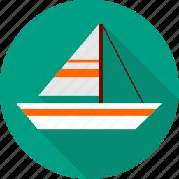 boat, sailboat, sailing, ship, shipping, yacht icon