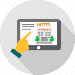 gesture, hand, hotel, information icon