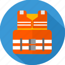 jacket, safety, safety jacket icon